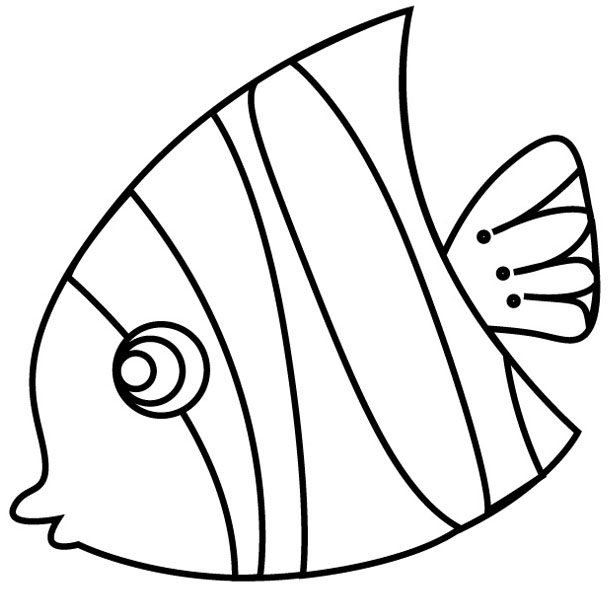 coloring pages and tropical fish-#25