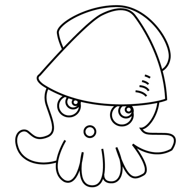 giant squid coloring pages - photo#35