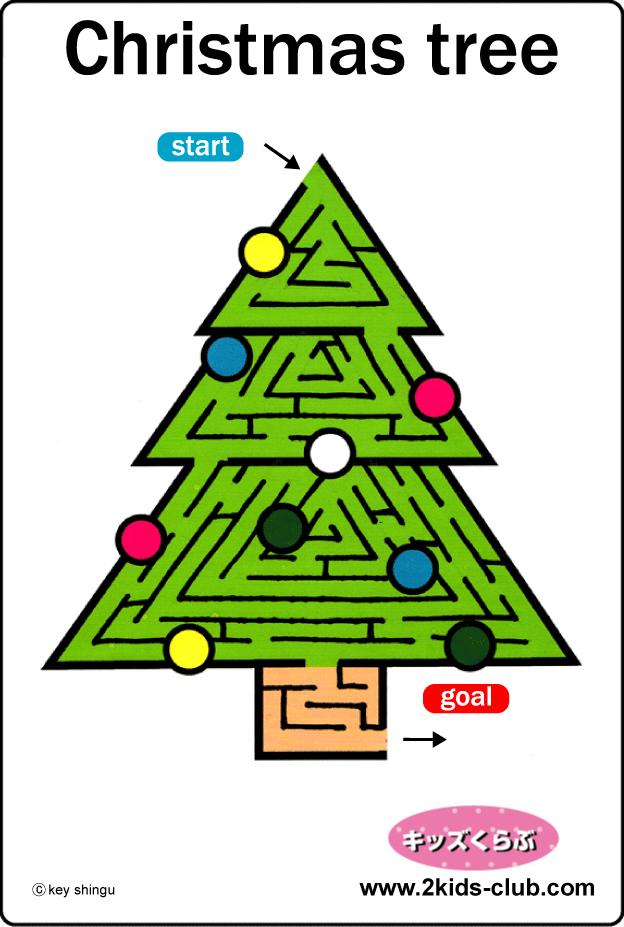 Maze・Christmas tree